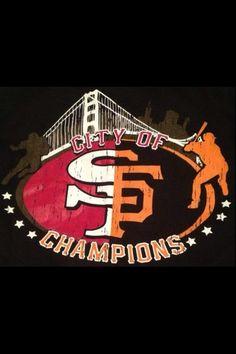 San Francisco 49ers football / Giants baseball  Hometown teams! Fan for life!