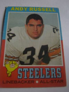 Andy Russell  #132 1971 Topps Football Card Steelers Linebacker All-Star  #Steelers