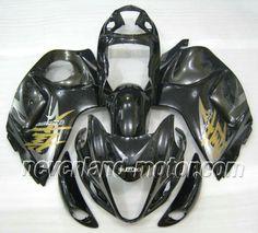 SUZUKI GSX-R 1300 2008-2009 Hayabusa ABS Verkleidung - Schwarz/Grau