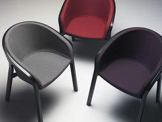 Contemporary chair / upholstered HE SAID  / SHE SAID by Nitzan Cohen  Mattiazzi