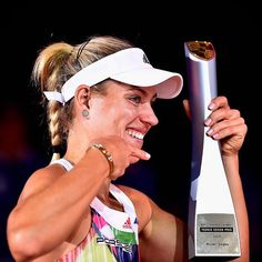 Back to Back! @Angie.Kerber defends her @PorscheTennis title!