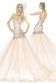 Wtoo Spring 2013 Collection wedding dress sketch  Who better to watch over a bridal collection as it comes to life than Hera, the ancient Greek goddess of marriage?