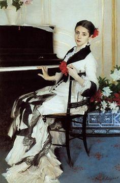 """American Painter:  John Singer Sargent,    1856 - 1925  """"Madame Ramon Subercaseaux"""""""