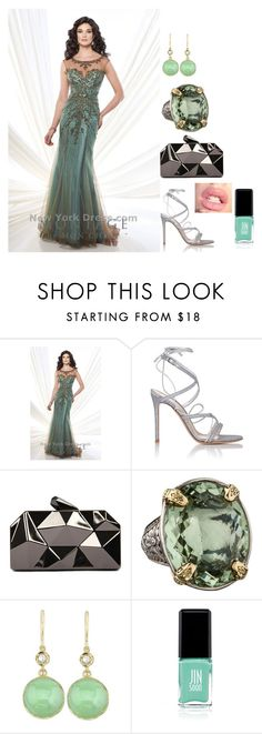 """Gown of the day, Newyorkdress.com (dress only)"" by freida-adams ❤ liked on Polyvore featuring Mon Cheri, Gianvito Rossi, WithChic, Konstantino, Jin Soon, women's clothing, women, female, woman and misses"