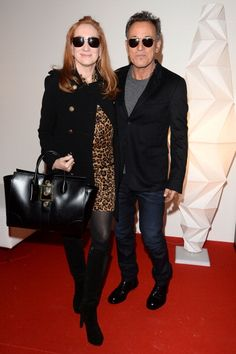PARIS, FRANCE - DECEMBER 08: Bruce Springsteen and wife Patti Scialfa attend the 'Gucci Paris Masters 2013' at Paris Nord Villepinte on December 8, 2013 in Paris, France