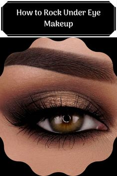 How to Rock Under Eye Makeup When you think of eye makeup , you probably don't think of makeup underneath your eyes. Eye makeup is traditio. Under Eye Makeup, Black Eye Makeup, Green Makeup, Makeup For Brown Eyes, Makeup Ideas, Makeup Tips, Beauty Makeup, Beauty Tips, Beauty Hacks