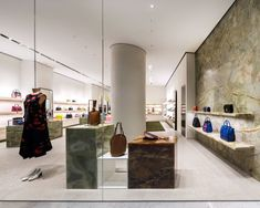 Celine Store at EmQuartier By PP Group – Wison Tungthunya & W Workspace Beautiful Interior Design, Shop Interior Design, Retail Design, Store Design, Celine, Boutiques, Fancy Store, Retail Fixtures, Retail Shelving