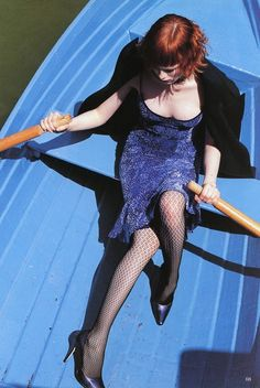 Vogue UK Sept 1997 - Karen Elson by Arthur Elgort