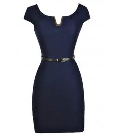 Navy Pencil Dress, $32 from Lily Boutique