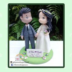 WEDDING CAKE TOPPER 100% HANDMADE MATERIAL: POLYMER CLAY Cebu, Wedding Cake Toppers, Wedding Cakes, Polymer Clay Cake, Mini, Christmas Ornaments, Disney Princess, Holiday Decor, Handmade