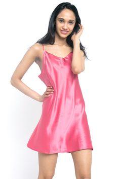 MYK Silk - Soft Silk Chemise for Women - Summer Essential Sleepwear Satin Sleepwear, Sleepwear Women, Satin Nightie, Loungewear, Silk Slip, Satin Slip, Satin Lingerie, Lingerie Drawer, Silk Chemise