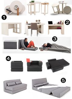 Modern Functional Space-Saving Furniture Collection 2019 NYFU's transformable small space furniture line has tons of options for tiny home dwellers. The post Modern Functional Space-Saving Furniture Collection 2019 appeared first on Sofa ideas. Smart Furniture, Space Saving Furniture, Furniture For Small Spaces, Furniture Design, Furniture Cleaning, Plywood Furniture, Chair Design, Office Furniture, Furniture Ideas