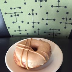 June 18, 2016:  PEANUT BUTTER GLAZED #vegan doughnuts! (Also our regular Saturday Signature Lemon Meringue Pie vegan doughnuts.) Vegan Doughnuts, Lemon Meringue Pie, Peanut Butter, June, Desserts, Food, Postres, Deserts, Hoods