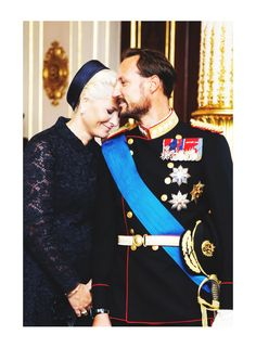 royalwatcher:  Crown Prince Haakon and Crown Princess Mette-Marit of Norway
