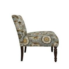 angelo:HOME Bradstreet Vintage Tapestry Blue Chair
