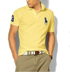 Ralph Lauren Classic Fit Big Pony Polo Oasis Yellow