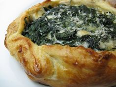 Blue & Green Tart from A Good Appetite - beat I could use filo instead of puff pastry to lower calories