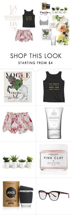 """lazy days"" by moneanemone ❤ liked on Polyvore featuring Martha Stewart, Lazy Days, Penguin, Skylar Luna, Kiehl's, Herbivore, JOCO, Christian Dior and pajamas"