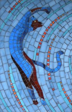 blue mosaic cat