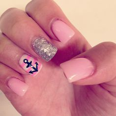 Anchor Nails ♥ I loveeee! Maybe Pink Panther Instead Of This Light Pink For Prom (: