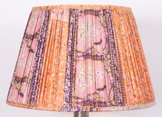 Silk saree lampshade by Samarkand Design