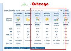 Osheaga 2012 Weather Forecast The Chai, Friday Saturday Sunday, Weather Forecast, Blog, Weather Predictions, Blogging