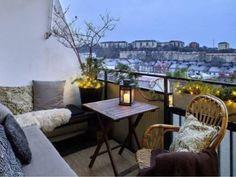 Over 50 creative interior design ideas for the balcony design in summer - mediha - Dekoration - Balcony Furniture Design Small Balcony Design, Small Balcony Garden, Small Terrace, Small Patio, Balcony Ideas, Terrace Garden, Apartment Balcony Decorating, Apartment Balconies, Cozy Apartment