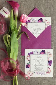 Invitatii de nunta Papira / Floral elegant wedding invitation