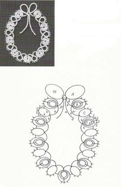 Motivi a chiacchierino | Sezione Hobbystica Motivi a chiacchierino | La bellezza del fatto a mano Crochet Motif, Crochet Doilies, Knit Crochet, Tatting Necklace, Tatting Jewelry, Needle Tatting, Tatting Lace, Etsy Handmade, Handmade Jewelry