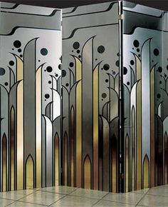 art deco screen