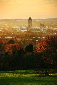 Canterbury Cathedral from University of Kent, England