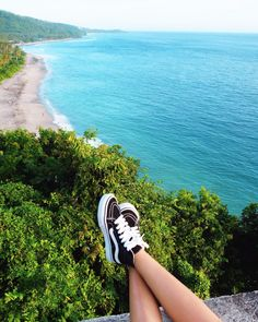 Nothing beats a pair of Sk8-Hi's and a view like this.   Photo via @emmoymoy