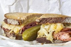 Reuben Sandwich, anyone? Sourdough, sauerkraut, cured meat, lacto-fermented pickles, homemade mustard or thousand island - what could be better???