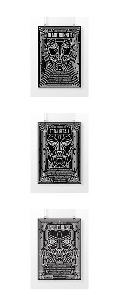 Philip K. Dick book series & movie posters on Behance