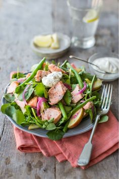 Hot-smoked Salmon and Watercress Salad