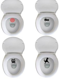 Potty Training - Target Aim Decals - Fun Potty Training at LAST - set of 3 on Etsy, $2.00