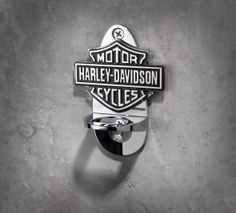 Complete your home bar with this chrome-plated bottle opener. | Harley-Davidson Wall Mount Bottle Opener