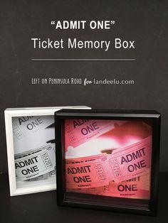 """Admit One"" Ticket Memory Box DIY TUTORIAL | landeelu.com"