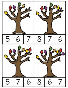 Fun Math Activities, Autumn Activities For Kids, Kindergarten Math Worksheets, Fall Preschool, Preschool Themes, Infant Activities, Tree Life Cycle, Tree Study, Fall Images