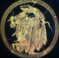 Peleus Wrestling Thetis, fabled parents of Achilles, 500 BC