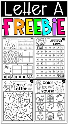 Free letter a alphabet worksheets. This freebie features a set of 4 worksheets for the letter A. Students will work on letter identification, beginning sounds, letter formation, lower and uppercase letter differentiation and so much more.