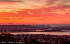 This morning's sunrise over the city from Kate Sessions Park by Matt Aden Photography.