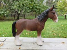 Draught Horse Figurine