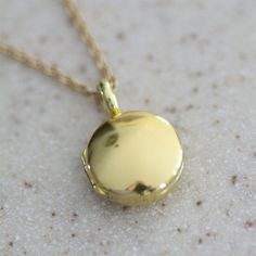 Locket Small 14ky Gold 18 Made to Order by LaineBenthalldesigns, $806.00