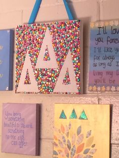 Tri Delta Gem Canvas Art