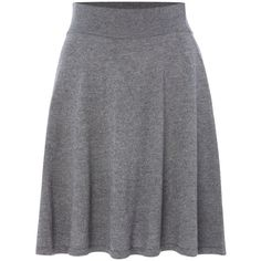 La Fee Maraboutee Short Knitted Flared Skirt ($105) ❤ liked on Polyvore featuring skirts, grey, women, wool a line skirt, grey a line skirt, skater skirt, circle skirt and gray skirt