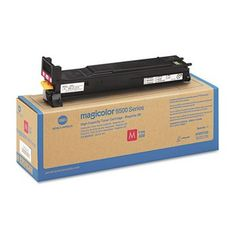 Konica-Minolta A06V333 Magenta High-Yield Toner Cartridge for Magicolor 5500 Series, 12000 Page-Yield.