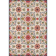Hand-hooked Tessa Garden Rug (7'10 x 11'0) - Overstock™ Shopping - Great Deals on Alexander Home 7x9 - 10x14 Rugs