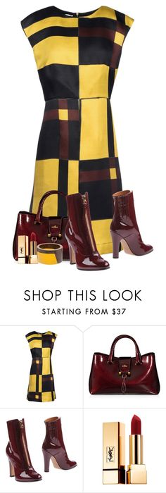 """Marni"" by flowerchild805 ❤ liked on Polyvore featuring Marni, Hogan, Valentino and Yves Saint Laurent"