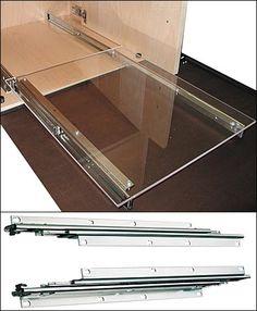 Clear Sliding Drawer 건축 계획 부엌 수납장 사무실 아이디어